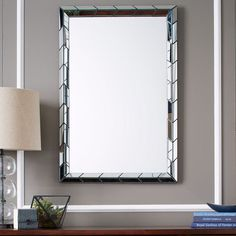 Chevron Tile Wall, Mirrors, Larger Tiles, 24