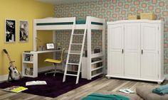Como usar uma cama suspensa para decorar um quarto pequeno de solteiro?