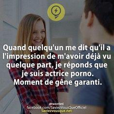 #femme #woman #actrice #porno #porn #moment #gene #garanti #humour #deja #vu
