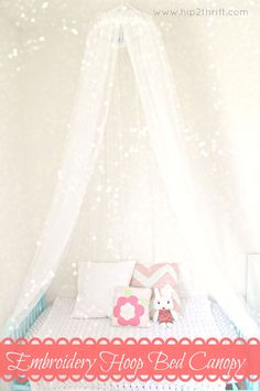how to make a canopy for a toddler bed Google Search Elsas