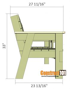 Double Bench Chair Plans Elegant Double Chair Bench Plans Step by Step Plans Wood Bench Plans, Wooden Chair Plans, Diy Wood Bench, Woodworking Furniture Plans, Pallet Patio Furniture, Outdoor Furniture Plans, Pallet Benches, Pallet Tables, Pallet Bar