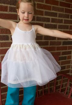 "Make a petticoat to ""puff"" up a little girl's dress"