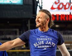 Josh Donaldson ❤ Josh Donaldson, Toronto Blue Jays, Go Blue, Baseball Players, Mens Tops, Rain, Sports Teams, Major League, Bowling