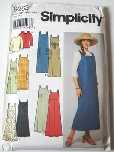 Simplicity 9262 Misses' Sundress/Jumper, Knit Top or Hoodie (this lady reminds me of my mother about 20 years ago.  Wow, trip down memory lane)