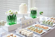 Mint and white dessert bar