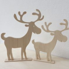 Houten rendieren – Scroll Saw Ideas – Dremel Christmas Origami, Noel Christmas, Christmas Crafts For Kids, Simple Christmas, Christmas Decorations, Wooden Reindeer, Reindeer Craft, Red Nosed Reindeer, Scroll Saw Patterns