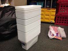 Walmart ice bins to use as book bins for my students with Daily 5 Read to Self...if we have the room!