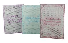 Create all 3 of these cards with just 1 embossing folder