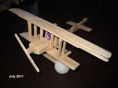 Bi-plane!  #craft #biplane #summercamp http://menloparkmartialarts.com