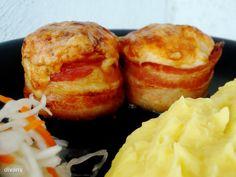 Baconos csirkemell Muffin, Baked Potato, Potatoes, Gluten Free, Baking, Breakfast, Ethnic Recipes, Food, Glutenfree