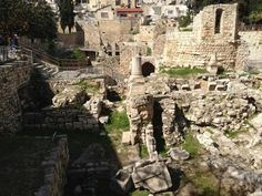 The pool of Bethesda. It would be incredible to go anywhere that Jesus had been Israel Trip, Israel Travel, Israel History, Historical Romance, Pilgrimage, Mount Rushmore, Egypt, Freedom, Bible