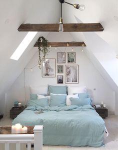 Einrichtungsideen Schlafzimmer, Dachgeschoss Schlafzimmer, Wohnzimmer,  Schlafzimmer Inspiration, Dachboden, Wohnungseinrichtung, Anbau