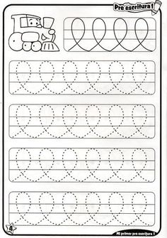 Trace the Dotted Lines Worksheets for Kids - Preschool and Kindergarten Preschool Writing, Preschool Education, Preschool Learning Activities, Free Preschool, Free Math, Handwriting Activities, Line Tracing Worksheets, Kids Math Worksheets, Alphabet Worksheets