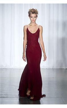 stunning burgundy red