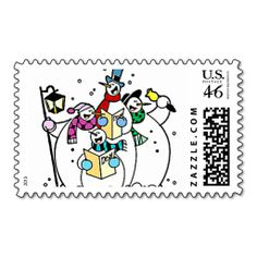 Singing Snowmen Christmas Postage Stamps http://www.zazzle.com/singing_snowmen_christmas_postage_stamps-172591119313269048?rf=238301761307787921