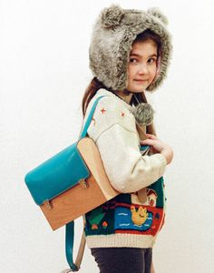 Love this wooden backpack for kids!