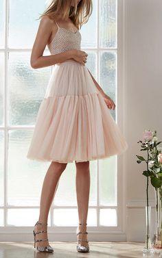 Voluminous Dress by NEEDLE & THREAD Now Available on Moda Operandi