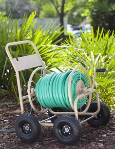 Liberty Garden 870 Industrial 4 Wheel 300 Foot Steel Frame Water Hose Reel Cart Liberty Garden 870 I