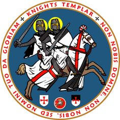 Knights Templar Official Seal Blue by williammarshalstore on DeviantArt Knights Hospitaller, Knights Templar, Crusader States, Knight Orders, 4 Kingdoms, Kingdom Of Jerusalem, Military Orders, Tactical Patches, T Shirt Image