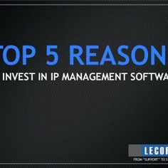 "TOP 5 REASONS TO INVEST IN IP MANAGEMENT SOFTWARE FROM ""SUPPORT"" TO STRATEGIC""   Reason 5: Bring Consistency & Repeatability to Processes Structure ca. http://slidehot.com/resources/top-5-reasons-to-invest-in-ip-management-software.65043/"