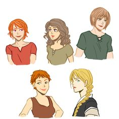 Alanna, Daine, Kel, Aly, Beka - Tamora Pierce's Women. Now do the Winding Circle girls, please and thanks!