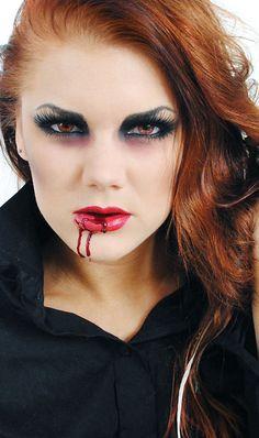 Vampire- makeup for Halloween