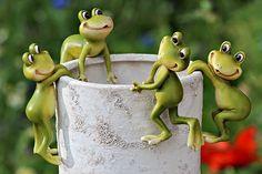 Plantenpot hanger kikker Jupp (set4) #frog #home