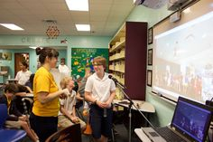 Skyping with Deer Path Middle School