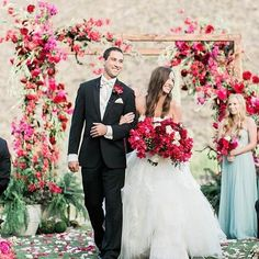 Burgundy Wedding, Floral Wedding, Wedding Colors, Recessional Songs, Instagram Wedding, Bridesmaid Dresses, Wedding Dresses, T 4, Newlyweds