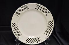 "8"" White Lattice Plate Vintage Item #2747 by BigBlossomAntiques on Etsy"