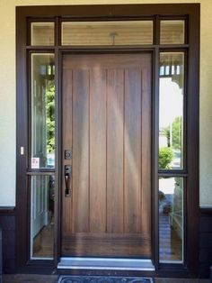 Inspiring Front Entry Doors Design Ideas – Home Door Ideas – door Front Door Entryway, Entry Door With Sidelights, Wooden Front Doors, Modern Front Door, Exterior Front Doors, House Front Door, House Doors, Front Entry, Exterior Windows