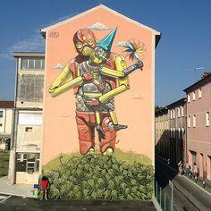 pixelpancho, murales robóticos