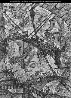 Carceri d'Invenzione- plate VII. Piranesi