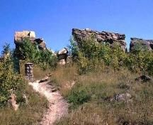 View north at sandstone formation, Government of Saskatchewan, Marvin Thomas, Historical Sites, Places To Visit, Country Roads, Camping, River, City, Fails, Picnic, Image