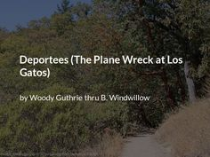 Deportees (The Plane Wreck at Los Gatos) Deep Poetry, Poems, Poetry, A Poem, Verses, Poem