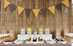 safari party food table and backdrop.. Perfect for hanging E's year of photos banner!! Safari Wedding, Safari Theme Party, Jungle Party, Jungle Safari, Jungle Theme, Lion Party, Sweet Style, Reptiles, Reptile Party