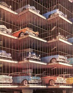 Stacks of Classic Cars