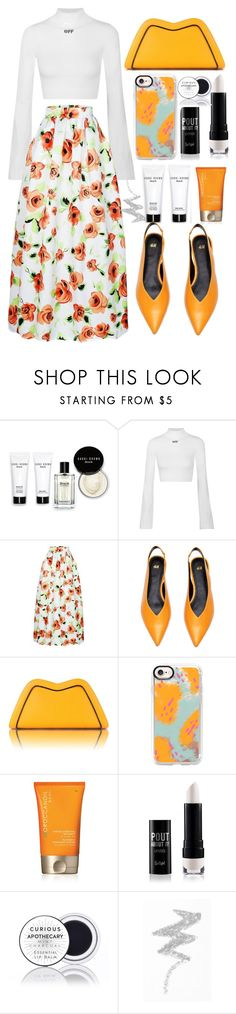 """maxi skirt"" by faesadanparkaia ❤ liked on Polyvore featuring Bobbi Brown Cosmetics, Off-White, Feather.M, Casetify, Moroccanoil and NYX"