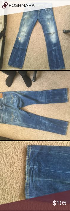Diesel Zatiny 8K2 34x32 Diesel Zatiny 8K2 size 34W32L.  Incredible pair of jean with only some light wear on hems.  Not worn that many times.  Paid full retail at Diesel store in Aventura in 2010.  I think they were $240.  Only reason I'm selling is that I lost a lot of weight and haven't worn them in almost 3 years as a result.  Sitting in my closet.  Smoke free pet free home.  I would also consider trading for the same jeans ins 32x32 same style same condition. Diesel Jeans Bootcut