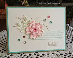 Stampin Up Flower Shop, Petite Petals and Gorgeous Grunge
