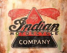 Indian Motorcycles Sign Painting  - Indian Motorcycles Sign Fine Art Print