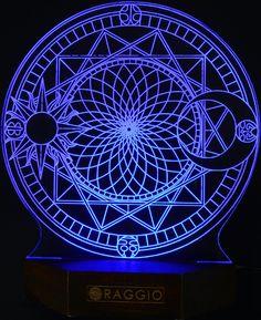 Stylish Transperant LED Lamp Magic Night Bed Light astrology