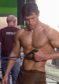 Henry Cavill.  Henry-Cavill-On-Set-of-Immortals-Movie-Work-Out-Image-02 by The Henry Cavill Verse, via Flickr