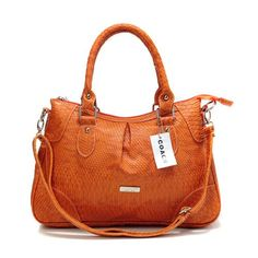 Discount Coach Madison Embossed Medium Orange Satchels DEL Clearance