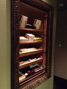 Humidor. This is another angle from the orginal shot. Also, we opened the glass door to show the inside without glare. David Rance, ASID DavidRance.com