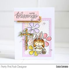 @prettypinkposh Easter Theme Week is starting today, make sure to check the inspiration daily.  how sweet is this bunny ears girl? 💗  .  .  #prettypinkposh #thedailymarker30day #handmadecard #crafts #papercraft #cards #eastercard #madewithloveindonesia