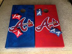 Atlanta Braves Cornhole Boards