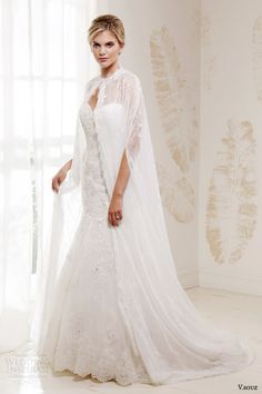 v souz wedding dresses 2014 cleo strapless gown with cleos cape