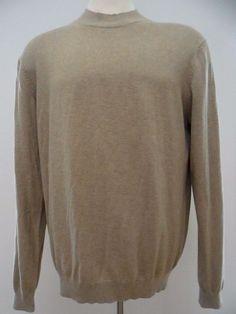 Croft and Barrow Sweater Kohls Large Tall Men Beige Mock Turtleneck Cotton Blend #CroftBarrow #Turtleneck