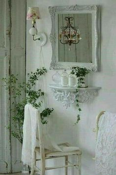 Such a simple idea for a dressing table if you're short on space...